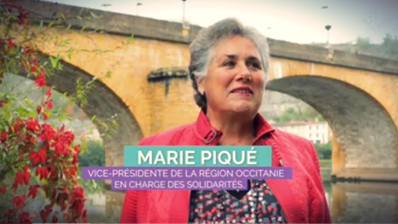 Soutien de Marie Piqué, vice-présidente de la région d'Occitanie