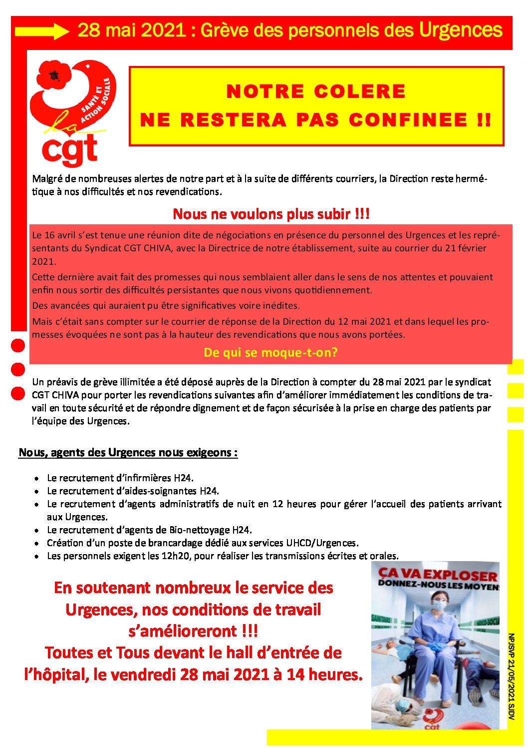 Grève au service des Urgences du CHIVA