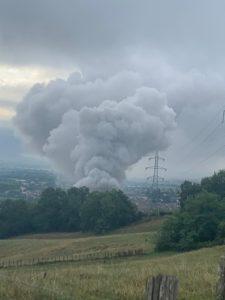 Incendie à Aubert et Duval